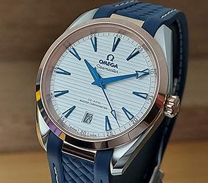 Omega Seamaster Unisex RG/SS Aqua Terra 150M Co-Axial Wristwatch Ref. 220.22.38.20.02.001