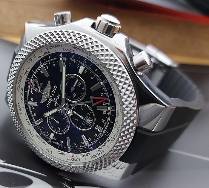 XL Breitling for Bentley GMT Wristwatch Ref. A4736