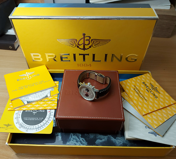 Breitling Navitimer Montbrillant Limited Edition 18K White Gold Ref. A47330