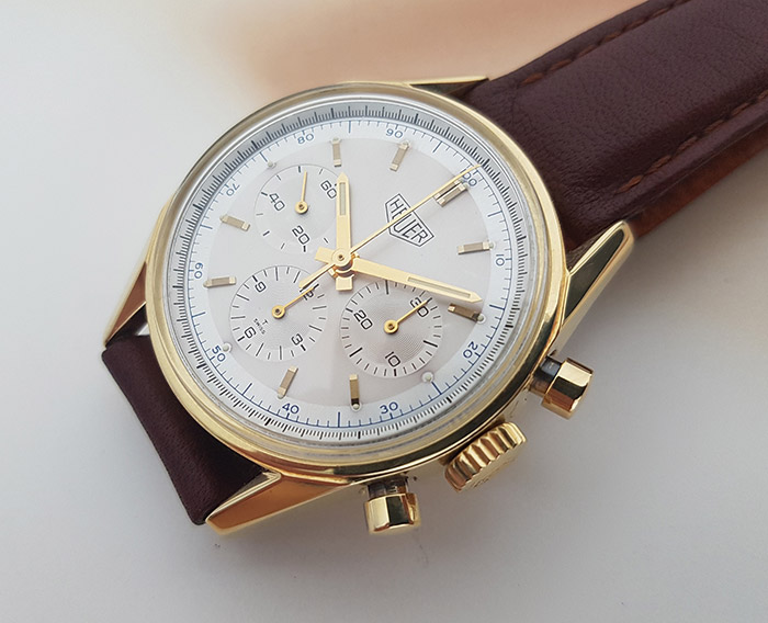 Heuer Carrera CS3140 Solid 18kt Gold