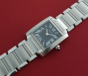 Ladies' Cartier Tank Francaise Quartz Wristwatch Ref. W51026Q3
