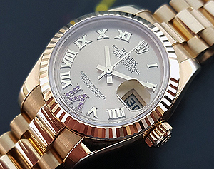 2016 Ladies' Rolex 18K YG Oyster Perpetual Datejust Midsize Ref. 178278