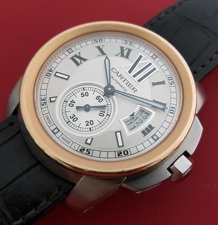 Cartier Calibre de Cartier 18K Rose Gold/Steel Wristwatch Ref. W7100011