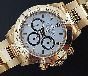1990 Rolex Daytona 18K Gold Wristwatch Ref. 16528