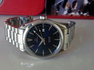 Omega Seamaster Aqua Terra Quartz Blue Dial Wristwatch Ref. 2517.80