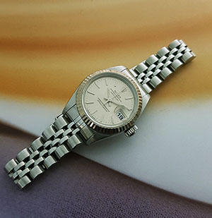 Ladies' Rolex Datejust 18K WG/SS Wristwatch Ref. 69174