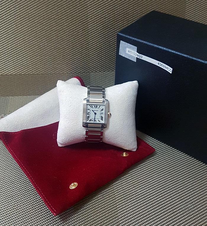 Ladies' Cartier Tank Francaise Quartz Wristwatch. Ref. W51024Q3