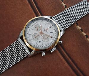 Breitling Transocean Chronograph SS & 18K RG Wristwatch Ref. UB015212/G777