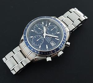 Omega Speedmaster Automatic Date Blue Wristwatch Ref. 3212.80