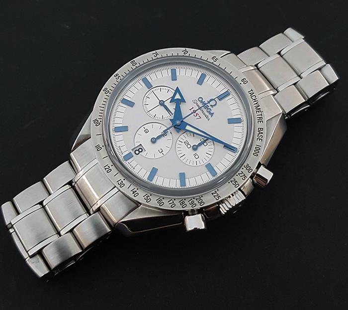 Omega Speedmaster 1957 Broad Arrow Co-Axial Chronograph Wristwatch Ref. 321.10.42.50.02.002