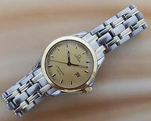 Ladies' Omega Seamaster YG & SS Quartz Wristwatch Ref. 2381.10