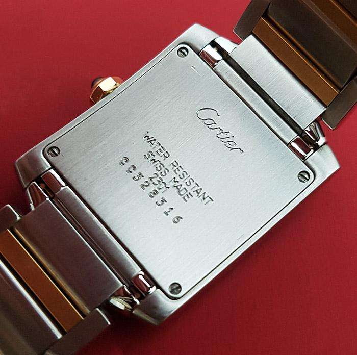 Ladies' Cartier Tank Francaise 18K YG/SS Midsize Quartz Wristwatch Ref. W51006Q4