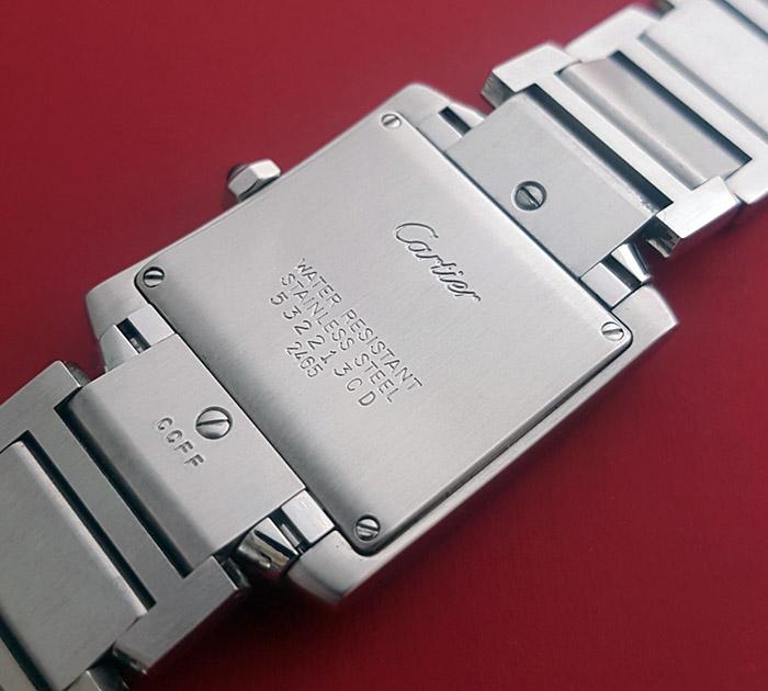 Ladies' Cartier Tank Francaise Midsize Quartz Wristwatch Ref. W51011Q3