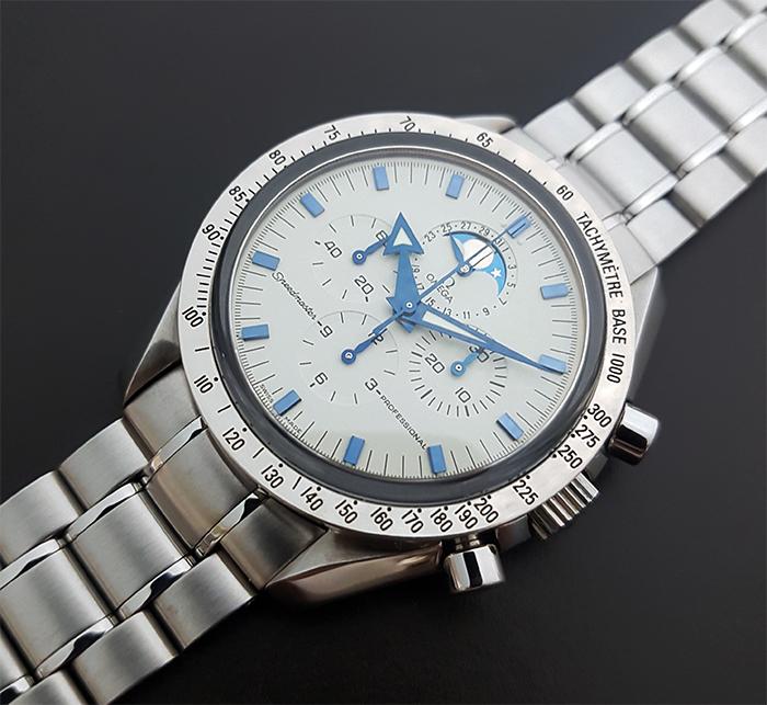 Omega Speedmaster Professional Moonphase 18K WG Wristwatch Ref. 3575.20