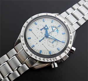 Omega Speedmaster Professional Moonphase 18K WG Wristwatch Ref. 3575.20