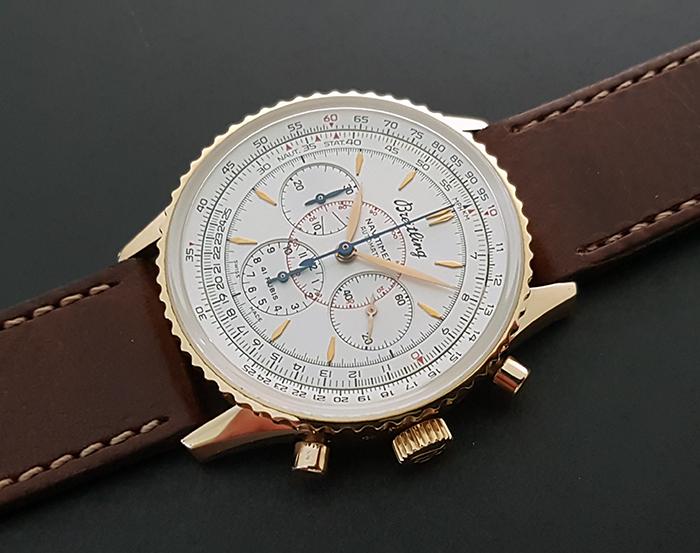 Breitling Navitimer Montbrillant Automatic 18K RG Chronograph Wristwatch Ref. H30030.1