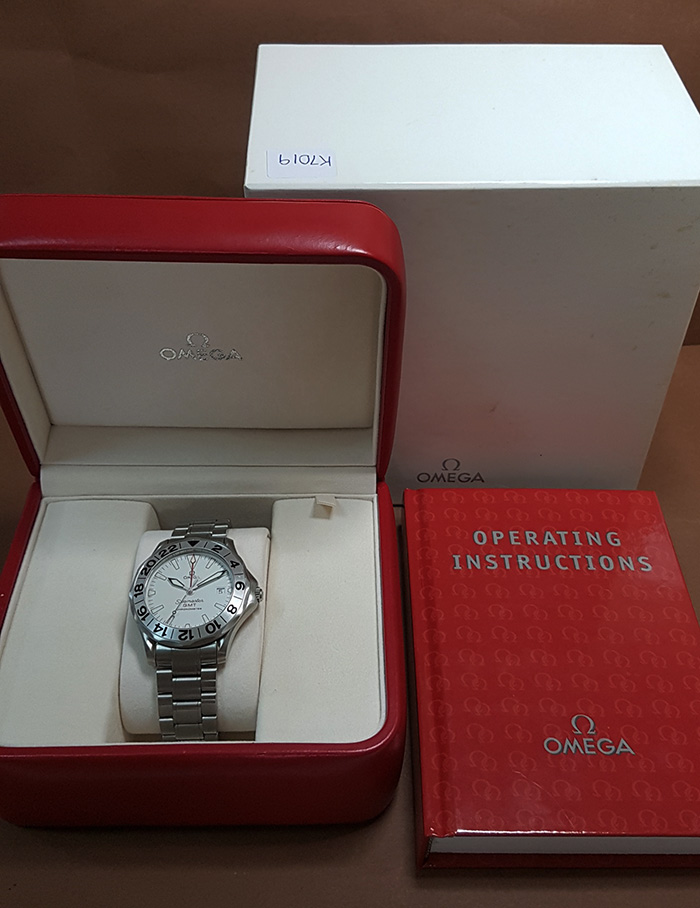 Omega Seamaster 300M GMT White Dial Wristwatch Ref. 2538.20