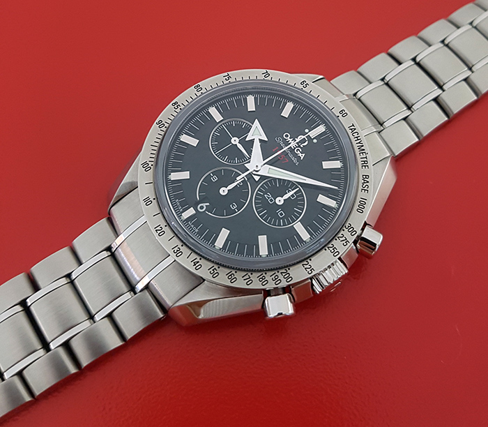 Omega Speedmaster 1957 Broad Arrow Co-Axial Chronograph Wristwatch Ref. 321.10.42.50.01.001