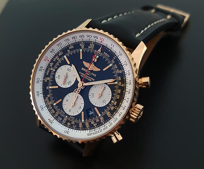 Breitling Navitimer 01 18k Gold Wristwatch Ref. RB0120