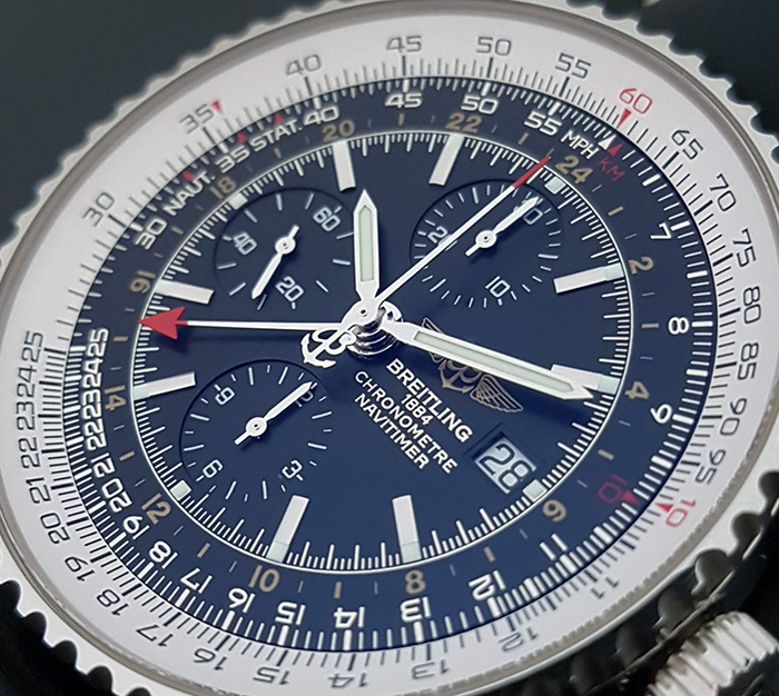Breitling Navitimer World GMT A24322 Chronograph Steel 46mm