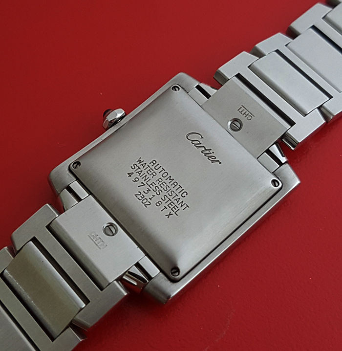 Ladies' Cartier Tank Large Size Automatic Wristwatch Ref. W51002Q3