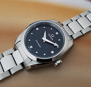 Omega Seamaster Aqua Terra 150M Quartz Diamond Dial Wristwatch Ref. 220.10.28.60.51.001