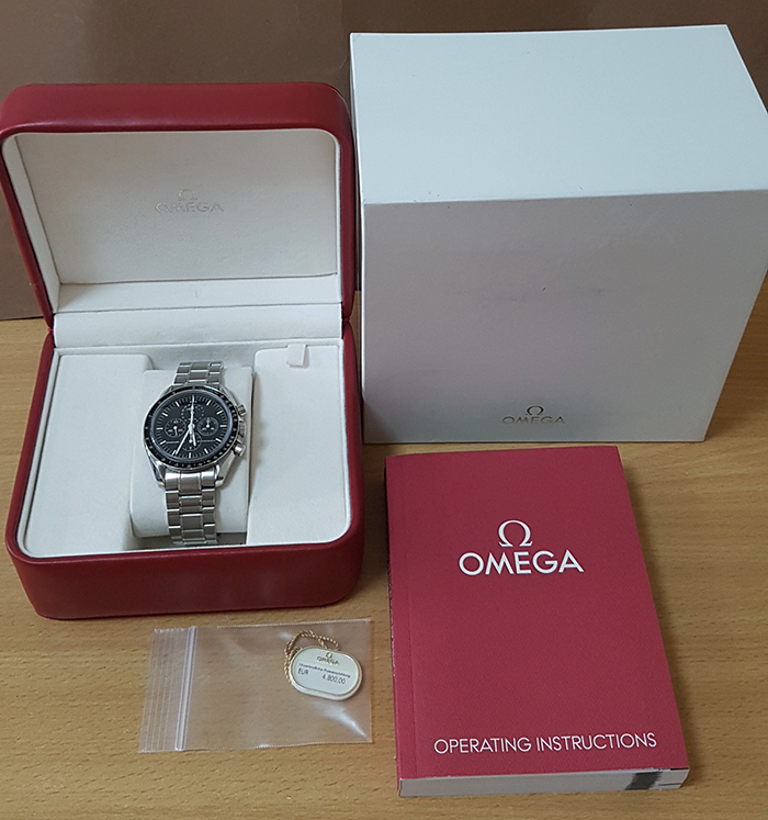 Omega Speedmaster Professional Moonwatch Moonphase Chronograph Wristwatch Ref. 3576.50