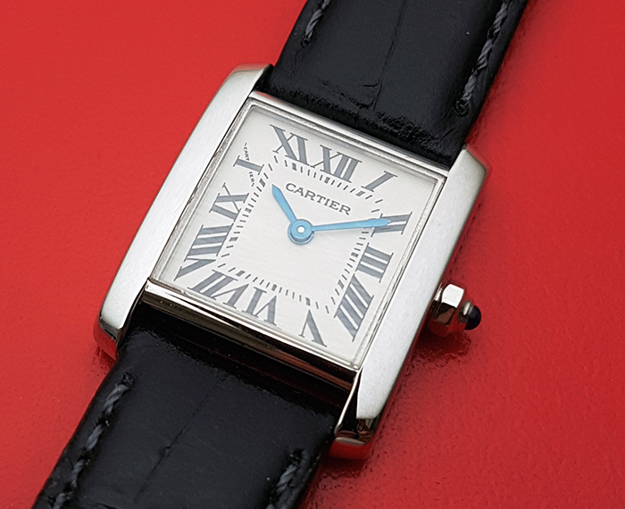 Ladies' Cartier Tank Francaise 18K white gold Wristwatch Ref. W5001256