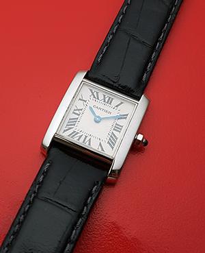 Ladies' Cartier Tank Francaise 18K white gold Wristwatch Ref. W5001256