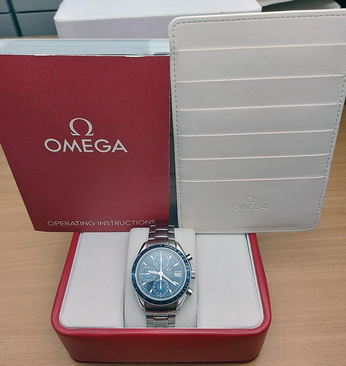 Omega Speedmaster Automatic Date blue Ref. 3212.80