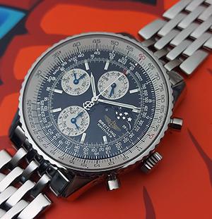 Breitling Navitimer Triple Calendar Moonphase Limited Series Wristwatch Ref. A19322