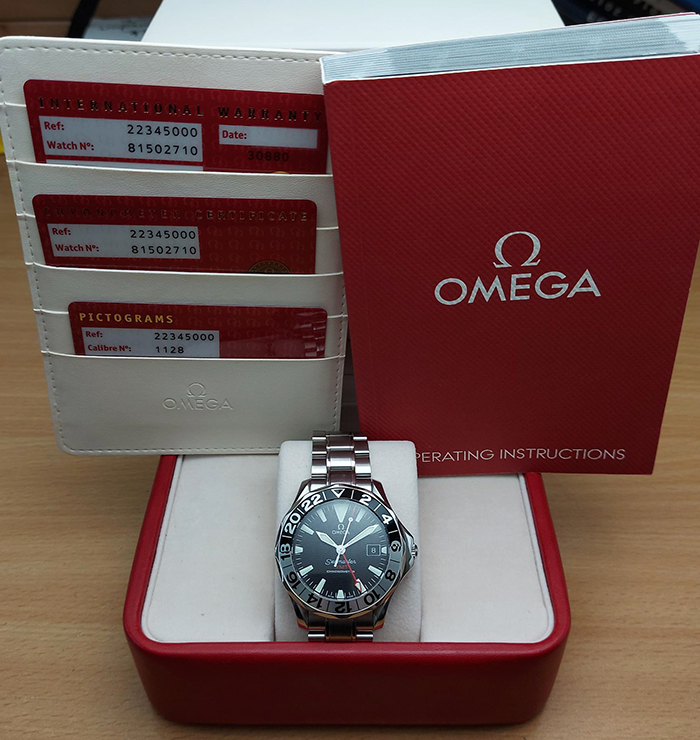 Omega Seamaster 300M GMT chronometer Wristwatch Ref. 2234.50