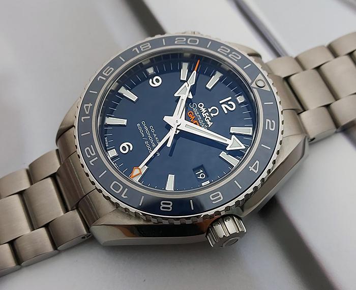 Omega Seamaster Planet Ocean 600M Co-Axial Titanium GMT Wristwatch Ref. 232.90.44.22.03.001