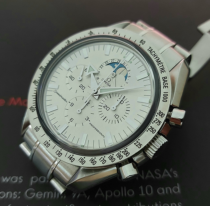 Omega Speedmaster Professional Moonphase Silver Dial - European Edition Ref. 3575.30