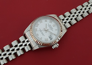 Ladies Rolex Oyster Perpetual Date Just Ref. 79174