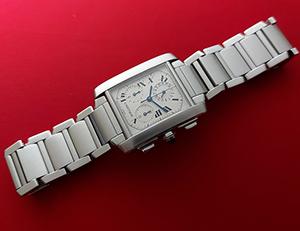 Cartier Tank Francaise Midsize Chronograph Wristwatch Ref. W51001Q3
