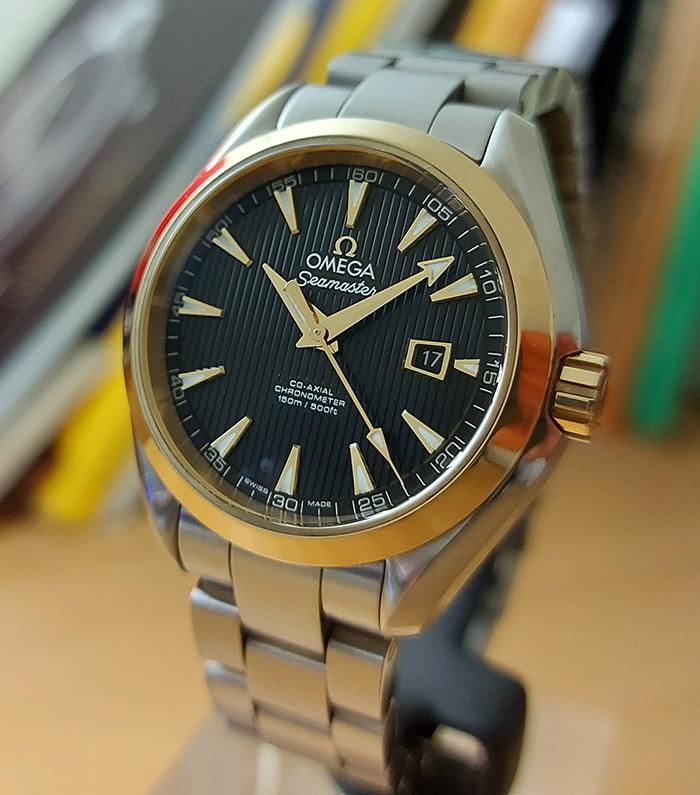 Omega Seamaster Aqua Terra 150M Co-Axial YG/SS Wristwatch Ref. 231.20.34.20.01.004