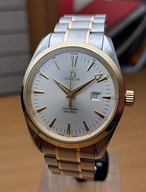 Omega Seamaster SS & YG Aqua Terra Quartz Wristwatch Ref. 2317.30