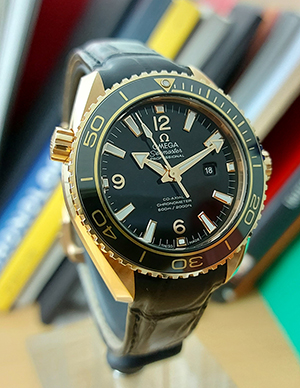 Omega Seamaster Planet Ocean 600M Co-Axial 18K Rose Gold Wristwatch Ref.232.63.38.20.01.001