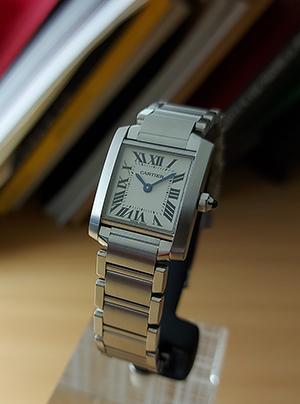 Ladies' Cartier Tank Francaise Quartz Small Size Wristwatch Ref. W51008Q3