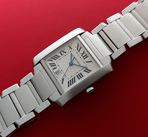 Cartier Tank Large Size Automatic Wristwatch Ref. W51002Q3