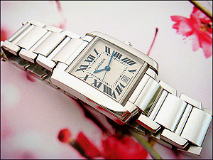 Cartier Tank Francaise 18K White Gold Wristwatch Ref. W50011S3