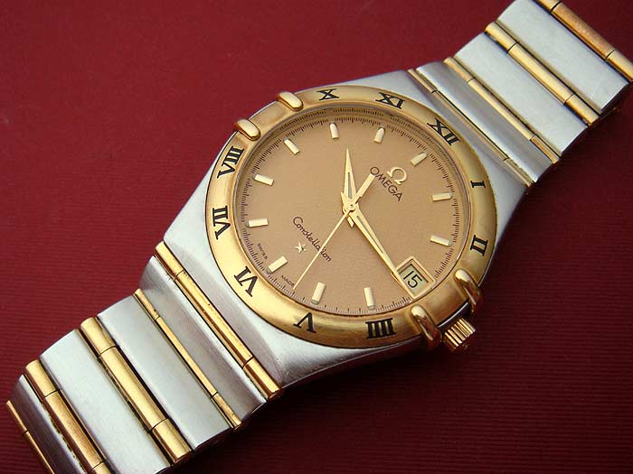Omega Constellation QUARTZ Mid-Size 18K YG/SS