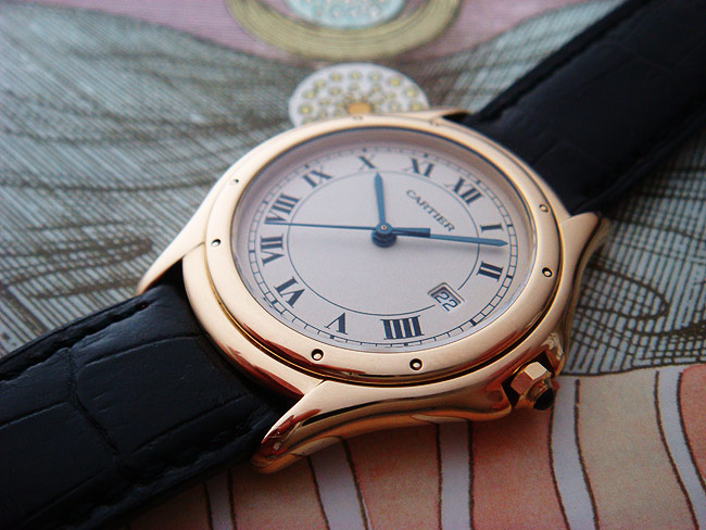 Cartier Cougar 18K YG Mid-Size Wristwatch Ref. W25013B9