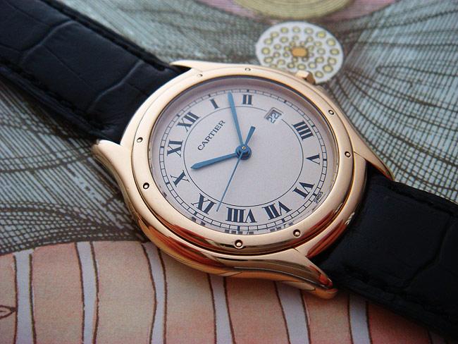 Cartier Cougar 18K YG Mid-size Ref. W25013B9