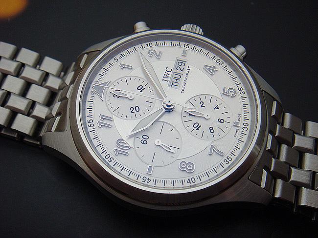 IWC Fliegeruhr/Spitfire Day Date Chronograph Wristwatch Ref. IW371705