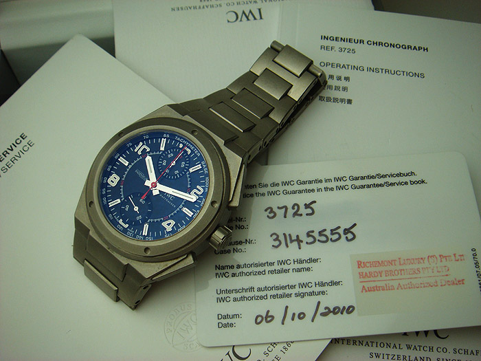 IWC Ingenieur Chronograph AMG Titanium watch Ref. 3725