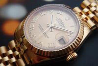 Ladies' Rolex Oyster Perpetual Datejust Midsize 18K YG Ref. 178278