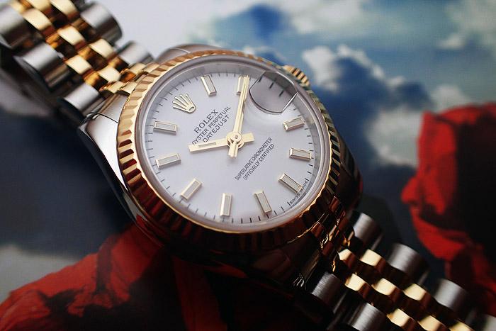 Ladies' Rolex Oyster Datejust 18K YG/SS Ref. 179173