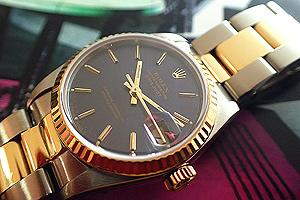 Ladies' Rolex Datejust 18K YG/SS Mid-size Ref. 68273